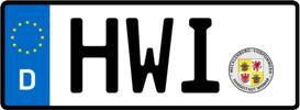 Kennzeichen Hwi